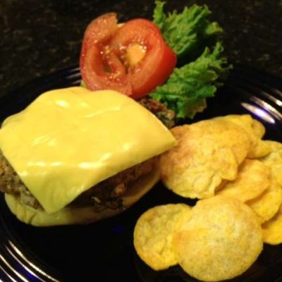 Kraft Singles Turkey Poblano Burger