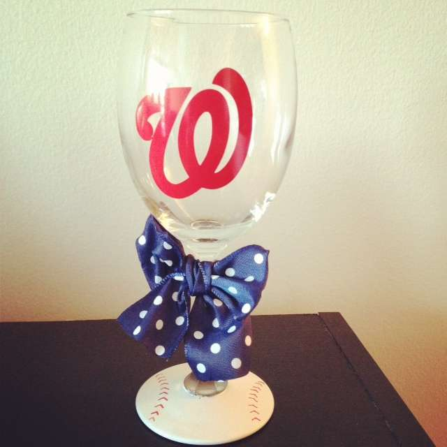 Nationals Wine Glass