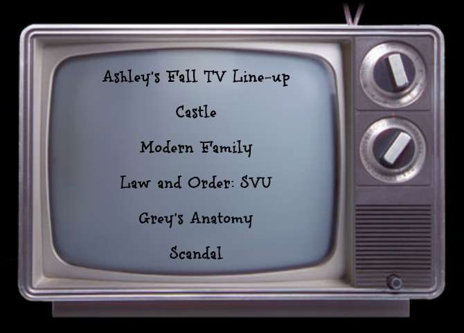 Fall 2012 TV Lineup