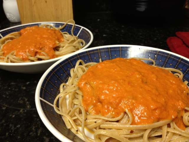 Delallo Vodka Sauce and Whole Wheat Pasta