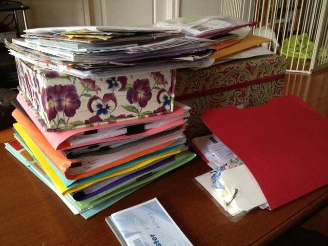 Organzing Paperwork