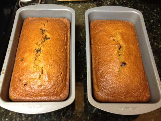Light Pumpkin Chocolate Chip Bread