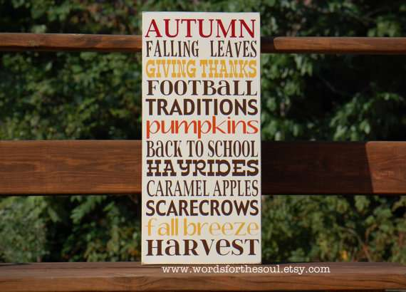 Fall Typography Sign