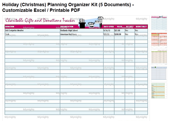 Holiday Planning Organizer