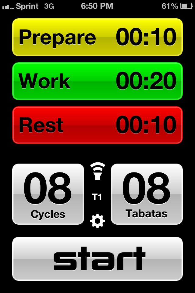 Tabata Pro App