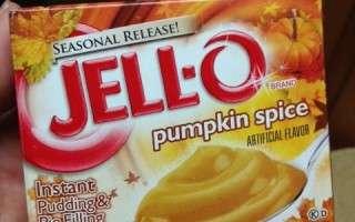 Jello pumpkin spice pudding