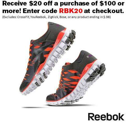 Reebok Holiday Discount