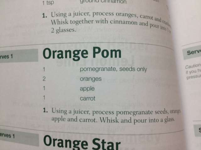 Orange Pom Juice