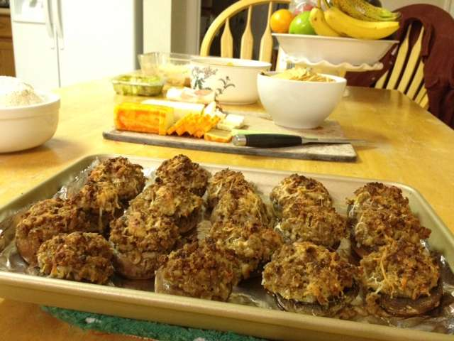 Homemade Stuffed Mushrooms