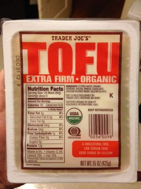 Trader Joe's Extra Firm Tofu