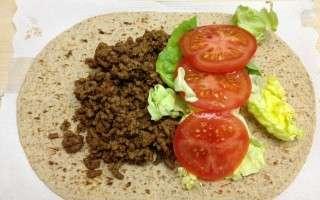 Healthy Cheeseburger Wrap