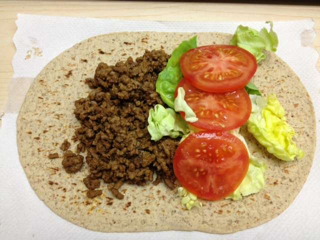 Healthy Cheeseburger Wrap
