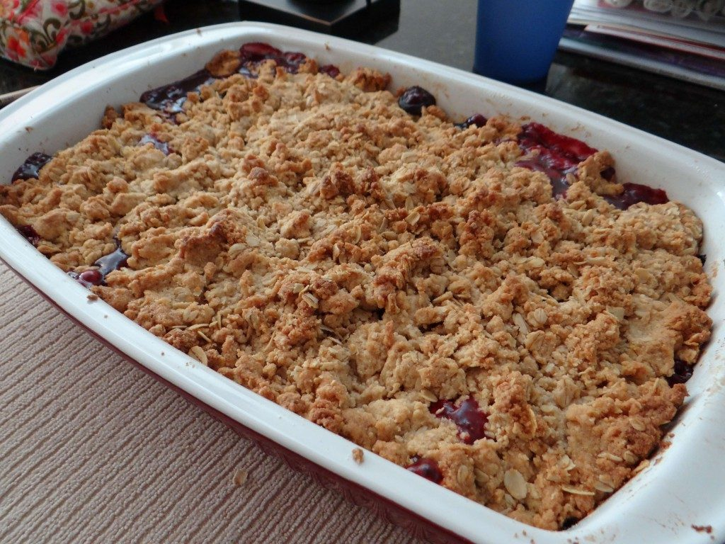 Strawberry and Blueberry Cobbler