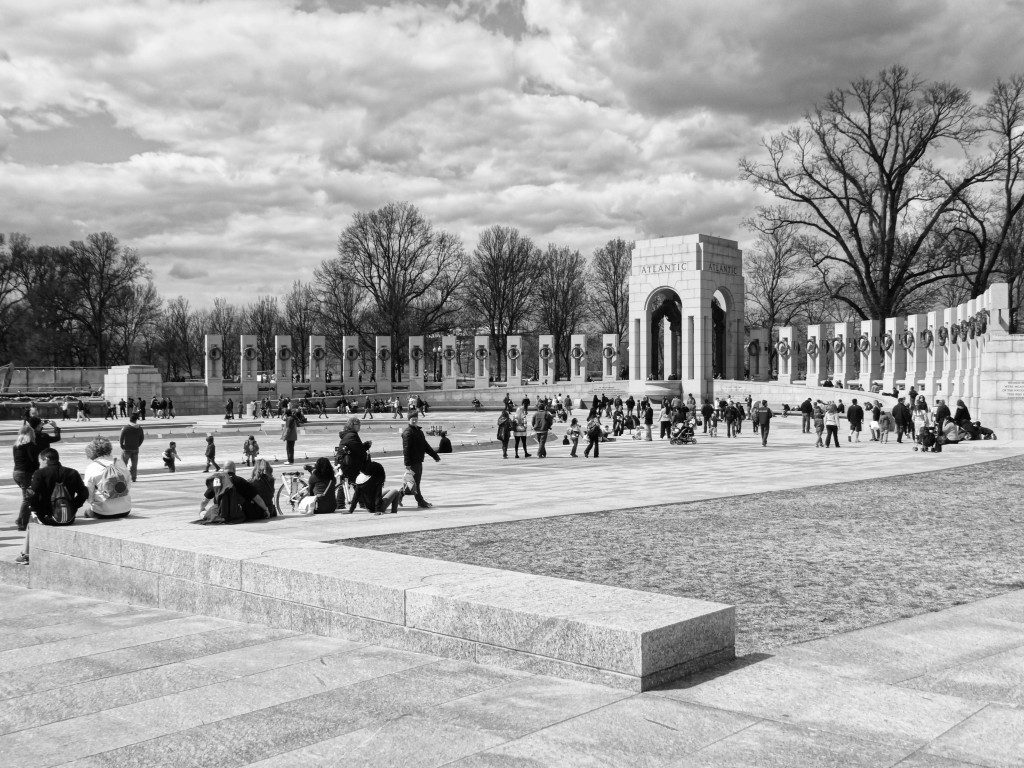 Black and White WWII Memorial