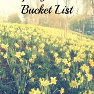 Spring 2013 Bucket List