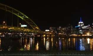 Pittsburgh PA at night