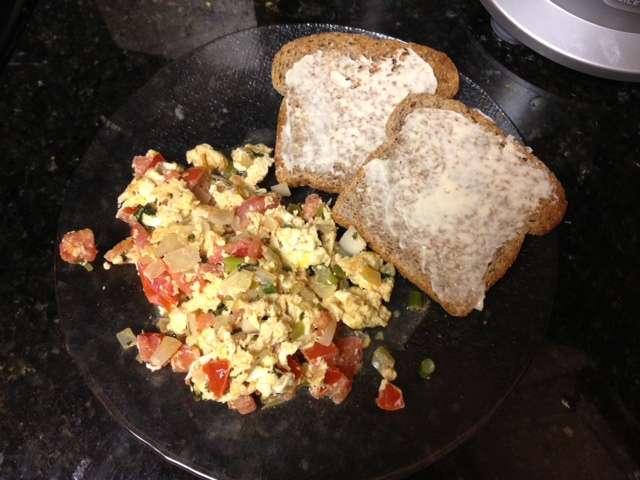 Pico De Gallo in Eggs