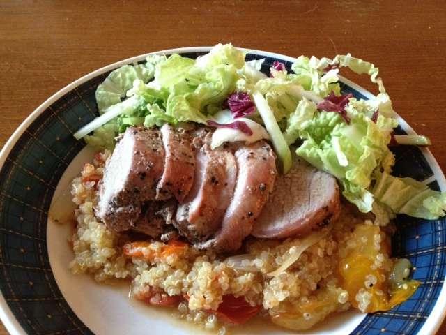Quinoa and Pork Tenderloin