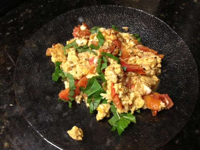 Tomato and Basil Eggs