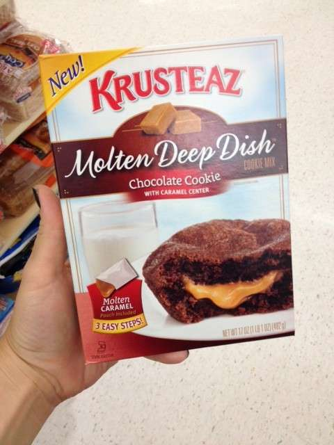 Molten Deep Dish Caramel Cookies