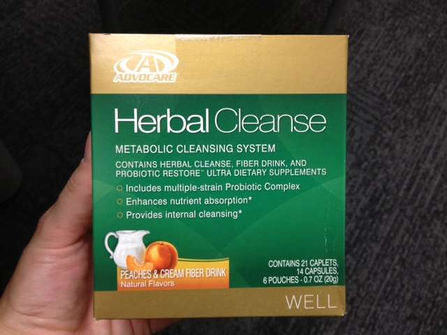 AdvoCare 10 Day Herbal Cleanse Peaches and Cream