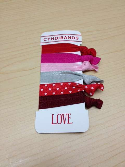 CyndiBands Valentine's Day Hair Ties