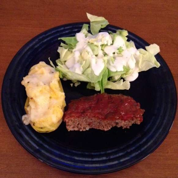 Mom's Meatloaf and Twiced Baked Potatoes