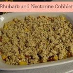 Rhubarb and Nectarine Cobbler