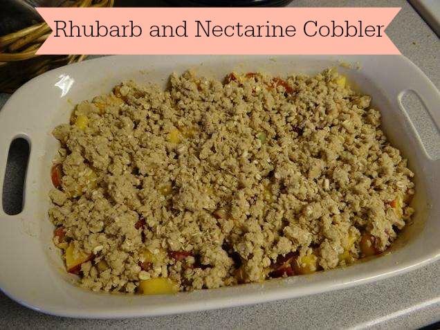 Rhubarb and Nectarine Crumble