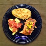 Baked Honey Balsamic Salmon with Mango Nectarine Salsa