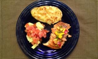Baked Salmon with Mango Nectarine Salsa