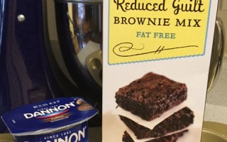 Reduced Guilt Coffee Brownies