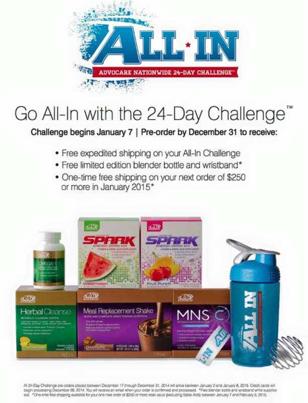 24 Day Challenge All In