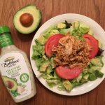 Cilantro Avocado Salad with Salsa Chicken