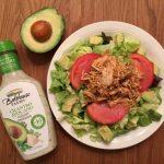 Cilantro Avocado Salad with Salsa Chicken