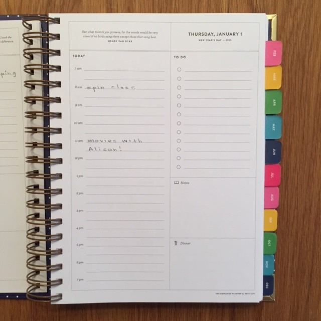 Emily Ley Simplified Planner 2015