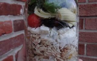 Mason Jar Greek Salads