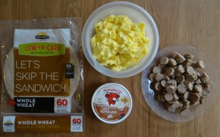 Make Ahead Sausage and Egg Breakfast Burritos