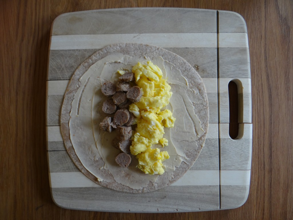 Make Ahead Sausage and Egg Breakfast Burritos