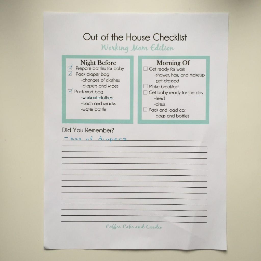 New Working Mom Checklist