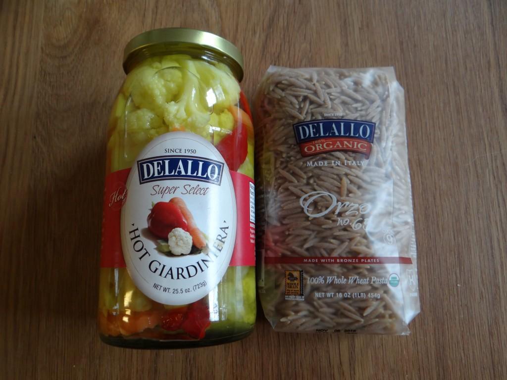 Delallo Orzo and Giardiniera Salad