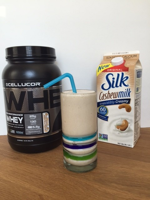 Peanut Butter Marshmallow Banana Smoothie - Coffee Cake and Cardio