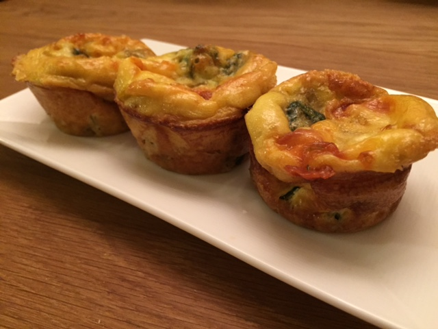 Spring Onion and Spinach Egg Muffins