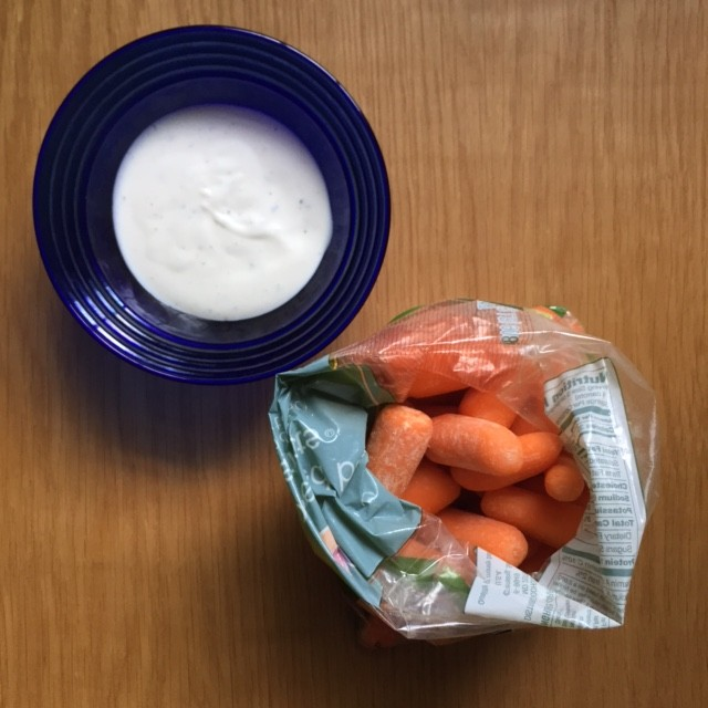 carrots and dressing snack