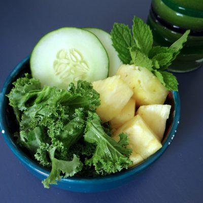 Pineapple Cucumber Kale Smoothie