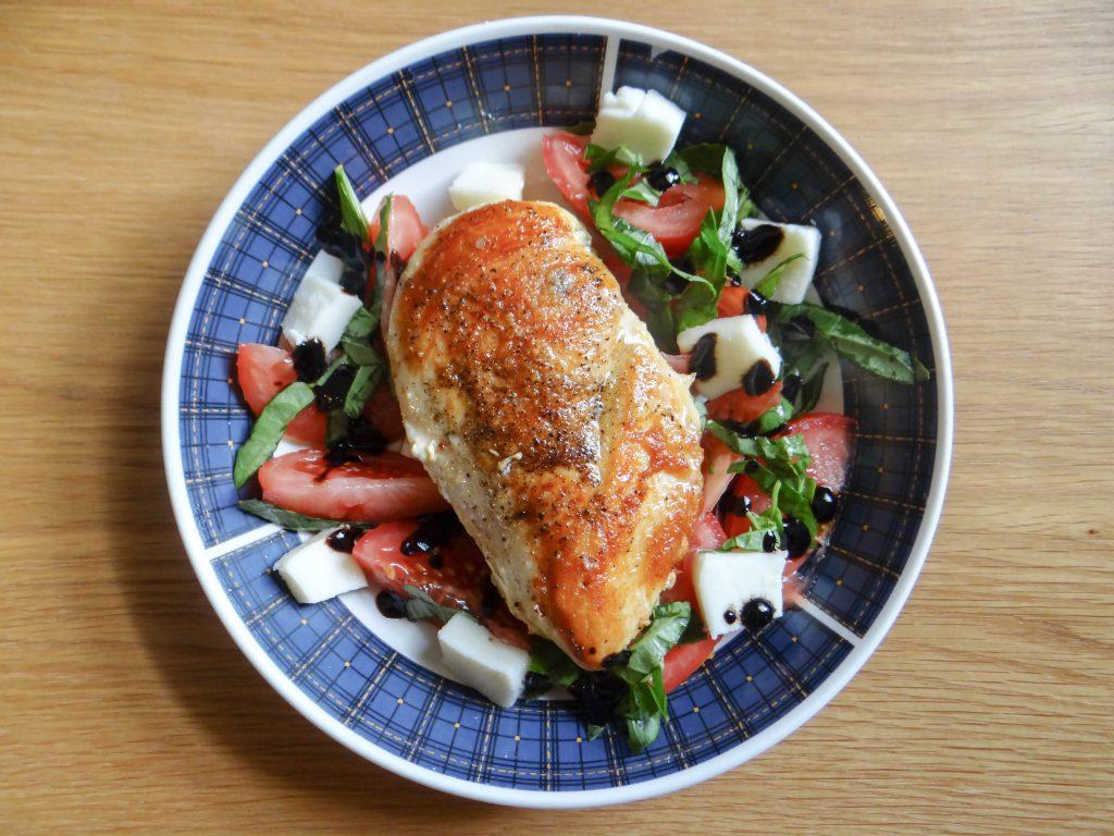 Simple Caprese Chicken Dinner
