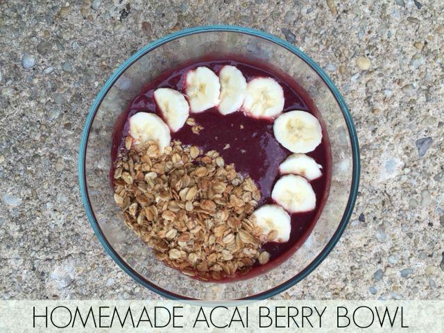 Homemade Acai Berry Bowl