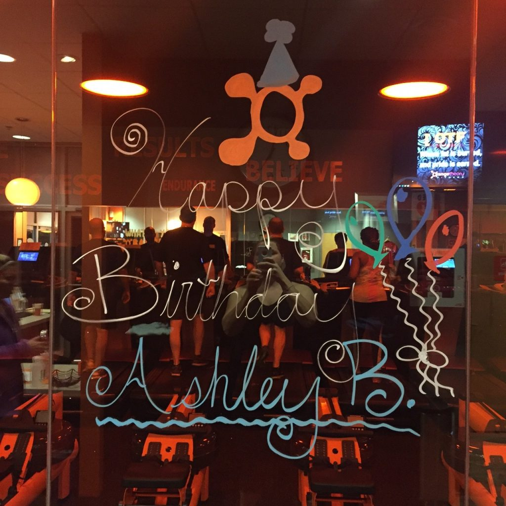 Orange Theory Happy Birthday