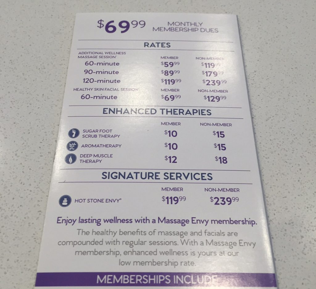 Massage Envy Gaithersburg Review
