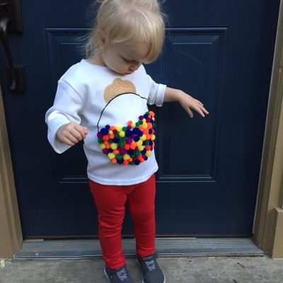 Easy Toddler Gumball Machine Halloween Costume